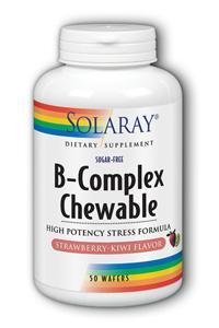 Solaray: B Complex Chewable 50ct Strawberry-Kiwi Flavor