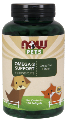 NOW: Pet Omega-3 Support 180 Gels