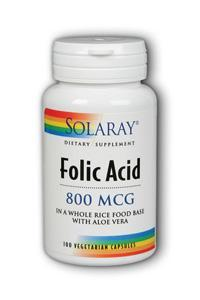 Folic Acid-800, 100ct 800mcg