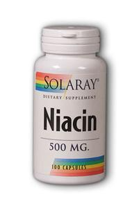 Solaray: Niacin 500 100ct 500mg