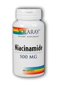 Solaray: Niacinamide 500 100ct 500mg