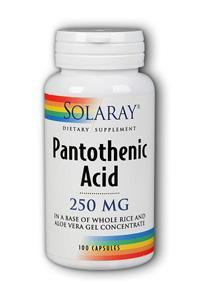Solaray: Pantothenic Acid-250 100ct 250mg