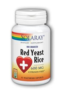 Solaray: Red Yeast Rice 45ct 600mg