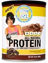 NEXT PROTEINS: BIGGEST LOSER NATURAL CHOCOLATE 10oz 1O OZ