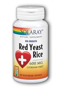 Solaray: Red Yeast Rice 90ct 600mg