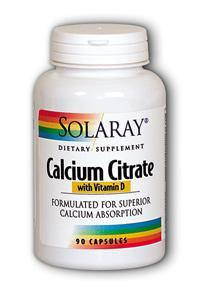 Solaray: Calcium Citrate with Vitamin D 90ct 250mg