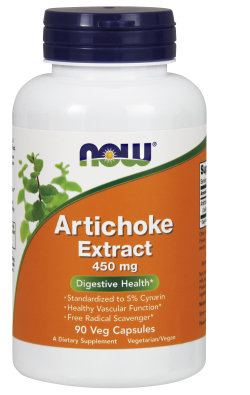 NOW: Artichoke Standardized Extract 450mg 90 Vcaps
