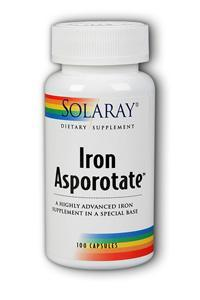 Solaray: Iron Asporotate 100ct 18mg