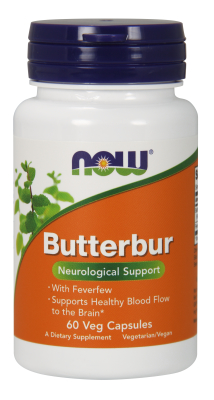 NOW: Butterbur with Feverfew 60 Vcaps
