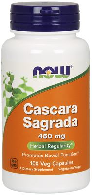 NOW: CASCARA SAGRADA 450mg  100 CAPS 100 CAPS