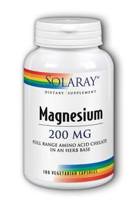 Solaray: Magnesium AAC 100ct 200mg