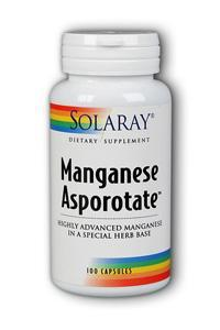 Solaray: Manganese Asporotate 100ct 30mg