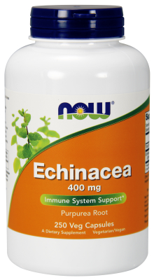 NOW: ECHINACEA PURP 400mg  250 CAPS 1