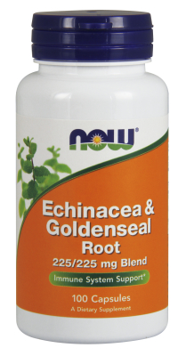 NOW: Echinacea and Goldenseal Root 225mg/225mg 100 CAPS
