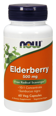 NOW: ELDERBERRY EXTR 500mg   60 VCAPS 1