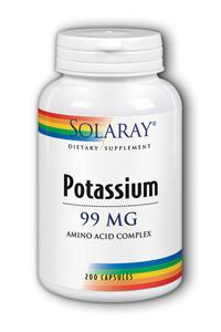Solaray: Potassium-99 200ct 99mg