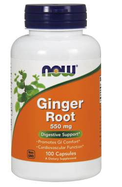 NOW: GINGER ROOT 550mg  100 CAPS 1