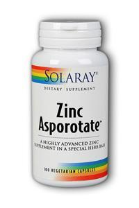 Solaray: Zinc-15 Asporotate 100ct 15mg