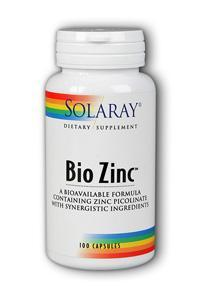 Solaray: Bio Zinc 100ct 15mg