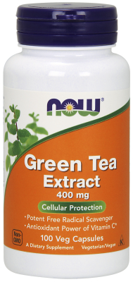 NOW: GREEN TEA EXTRACT 400mg 60% 100 CAPS