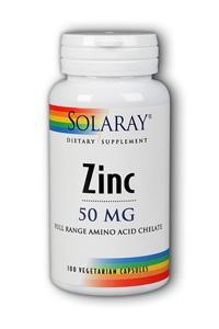Solaray: Zinc-50 100ct 50mg