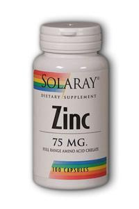 Solaray: Zinc-75 100ct 75mg