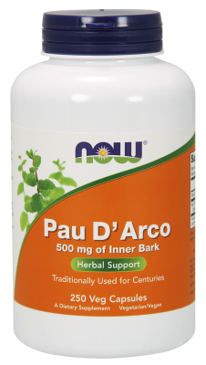 NOW: PAU D' ARCO 500mg  250 CAPS 1