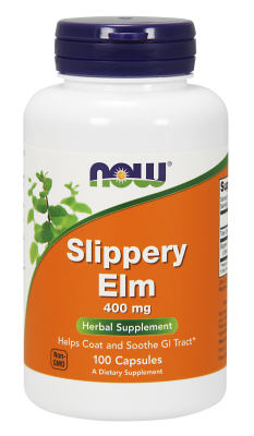 NOW: SLIPPERY ELM 400mg  100 CAPS 1