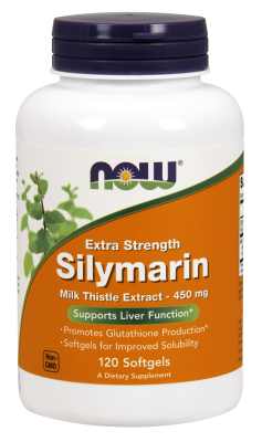 NOW: Extra Strength Silymarin 450mg 120 Gels