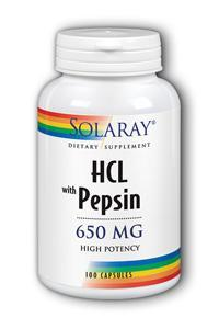 Solaray: High Potency HCl with Pepsin 100ct - 650mg