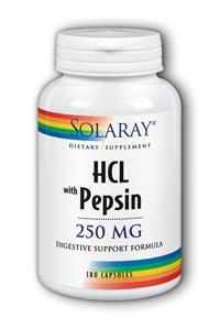 Solaray: Hcl with pepsin 180ct