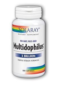 Solaray: Multidophilus Lactic Flora 100ct 3bil