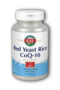 Kal: Red Yeast Rice 1200mg CoQ10 Once Daily 30ct