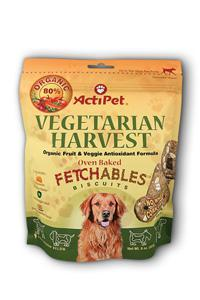 Actipet: Vegetarian harvest fetchables case 8 Chw- 6 BAGS
