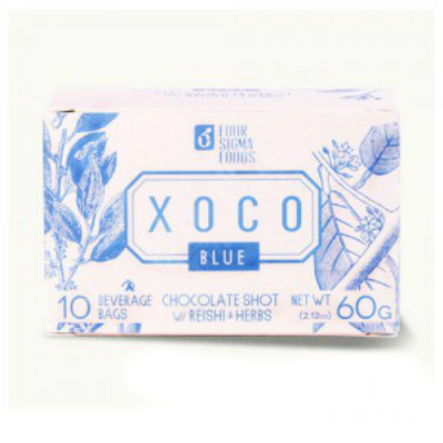 XOCO Blue Reishi Mushroom Hot Chocolate Drink Mix