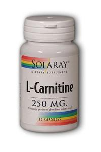 Solaray: Free-Form L-Carnitine 30ct 250mg