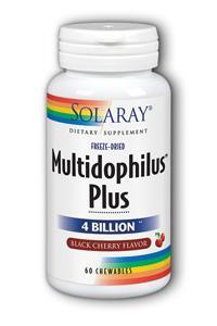 Solaray: Multidophilus Plus DDS-1 Black Cherry Chewable 60ct 4bil