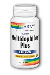 Solaray: Multidophilus Plus DDS-1 Orange Cream Chewable 60ct 4bil