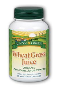 Sunny Green: Wheat Grass Juice Capsules 90ct 500mg