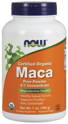 NOW: Maca Organic Pure Powder 7 oz Powder