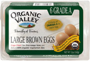 Organic Valley: Eggs,omga3,og,brn,lg,gr a 6 PACK