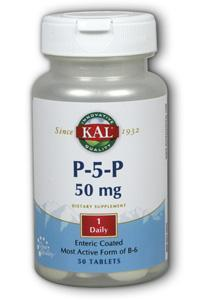 Kal: P-5-p the most active form of b6 50ct
