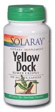 Solaray: Yellow Dock 100ct 500mg