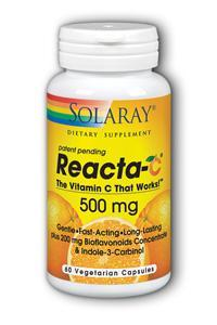 Solaray: Reacta-C 500mg with Bioflavonoids 60 Vcaps