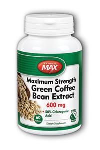 NaturalMax: Green Coffee Bean Extract 600mg 60 Veg Cap