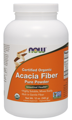 ORGANIC ACACIA FIBER POWDER, 12 OZ