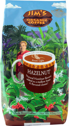 COFFEE BEAN ORGANIC HAZELNUT DECAF