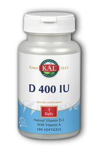 KAL: D-400 FLO 100ct 400iu  Softgel