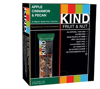 KIND BAR APPLE CINNAMON  And  PECAN 12 Pieces / Box from KIND SNACKS