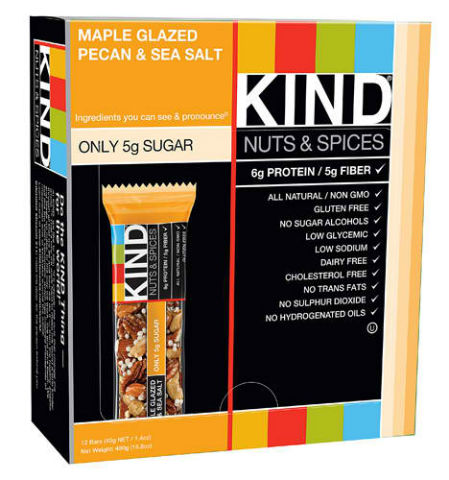 KIND SNACKS: KIND BAR MAPLE PECAN Plus SEA SALT 12/BX